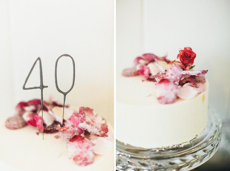 40th-birthday-cake-edible-flowers